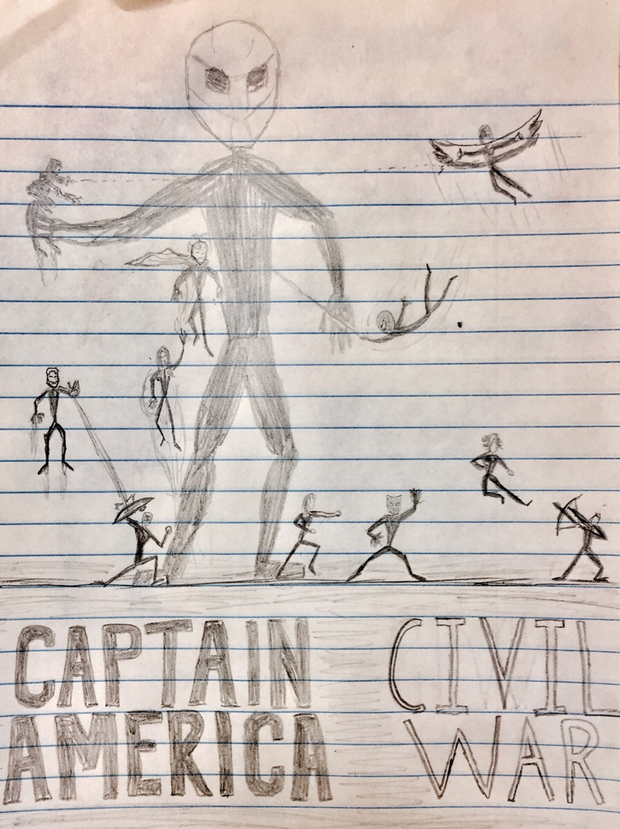 898x1200 One Of My Student's Drew This Awesome Stick Figure, Civil War