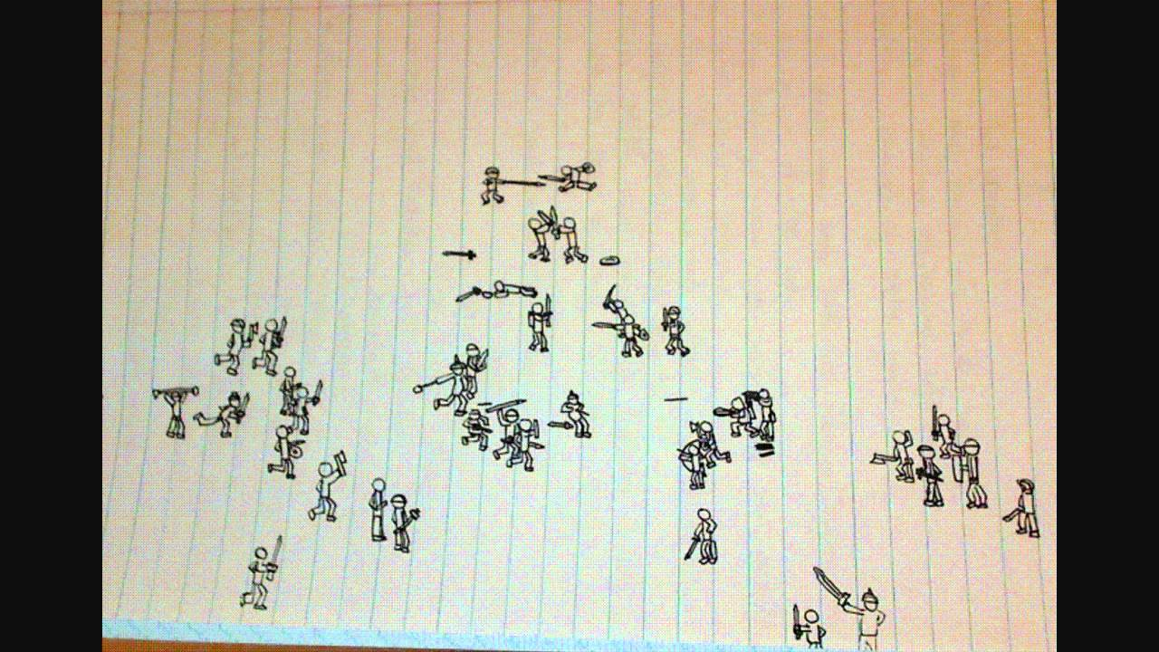 1280x720 Stickman Battle Drawing