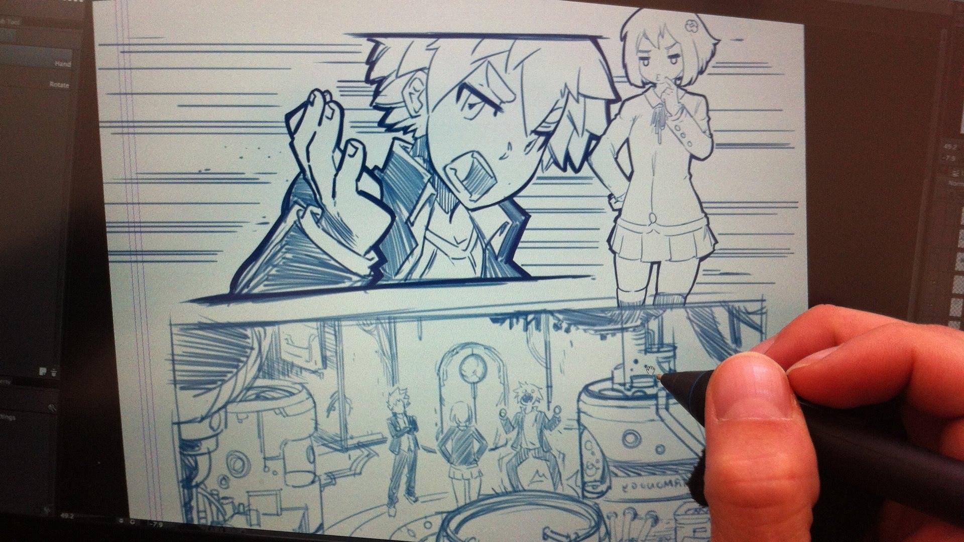 1920x1080 Drawing Manga Using Stick Figures