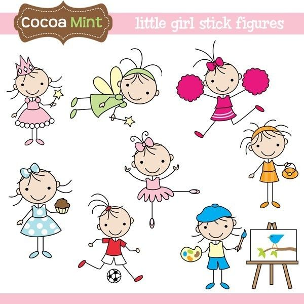600x600 Little Girl Stick Figures Clip Art Stick Figures, Clip Art