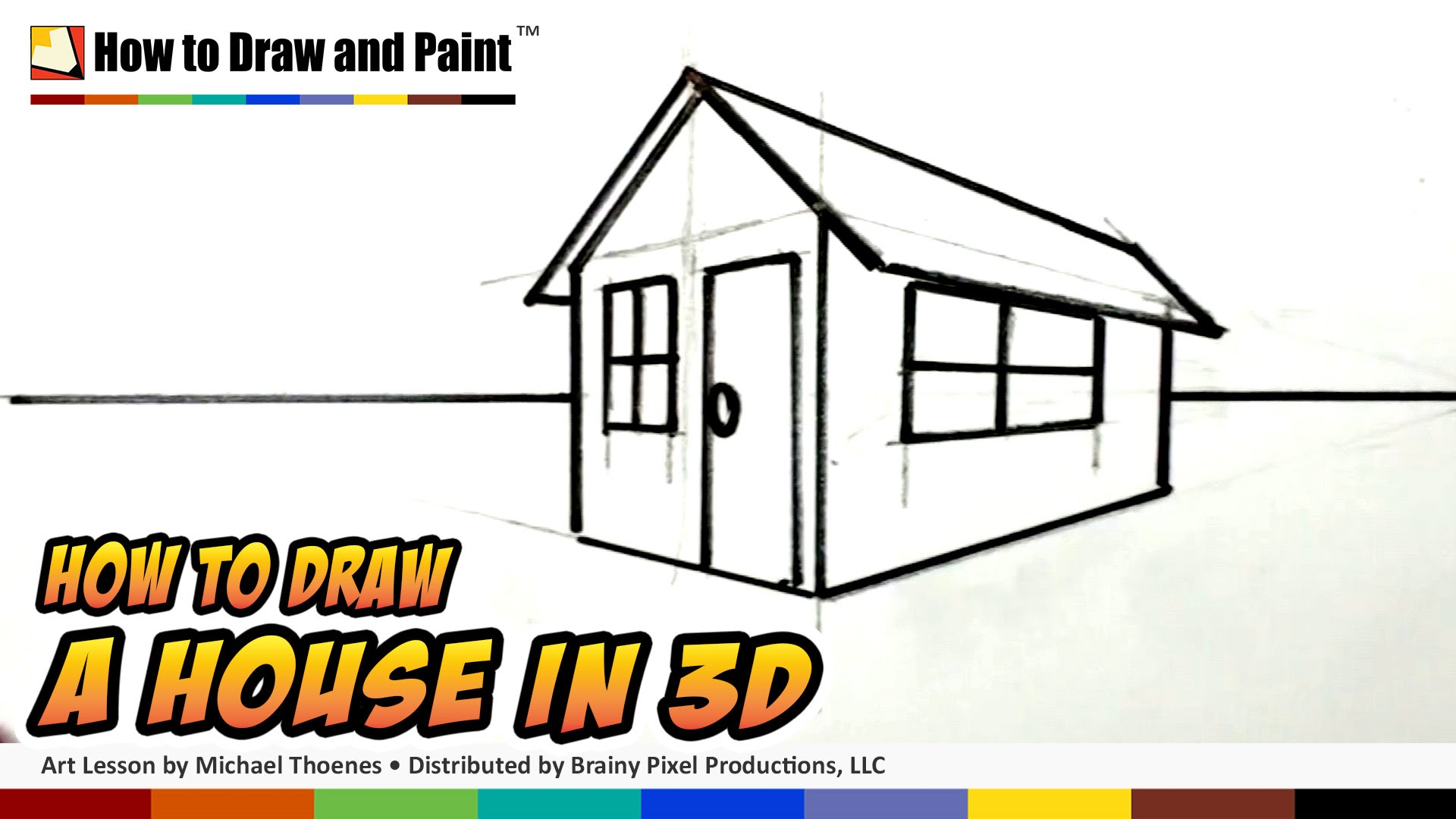 Superb 1920x1080 How To Draw A House In 3D For Kids