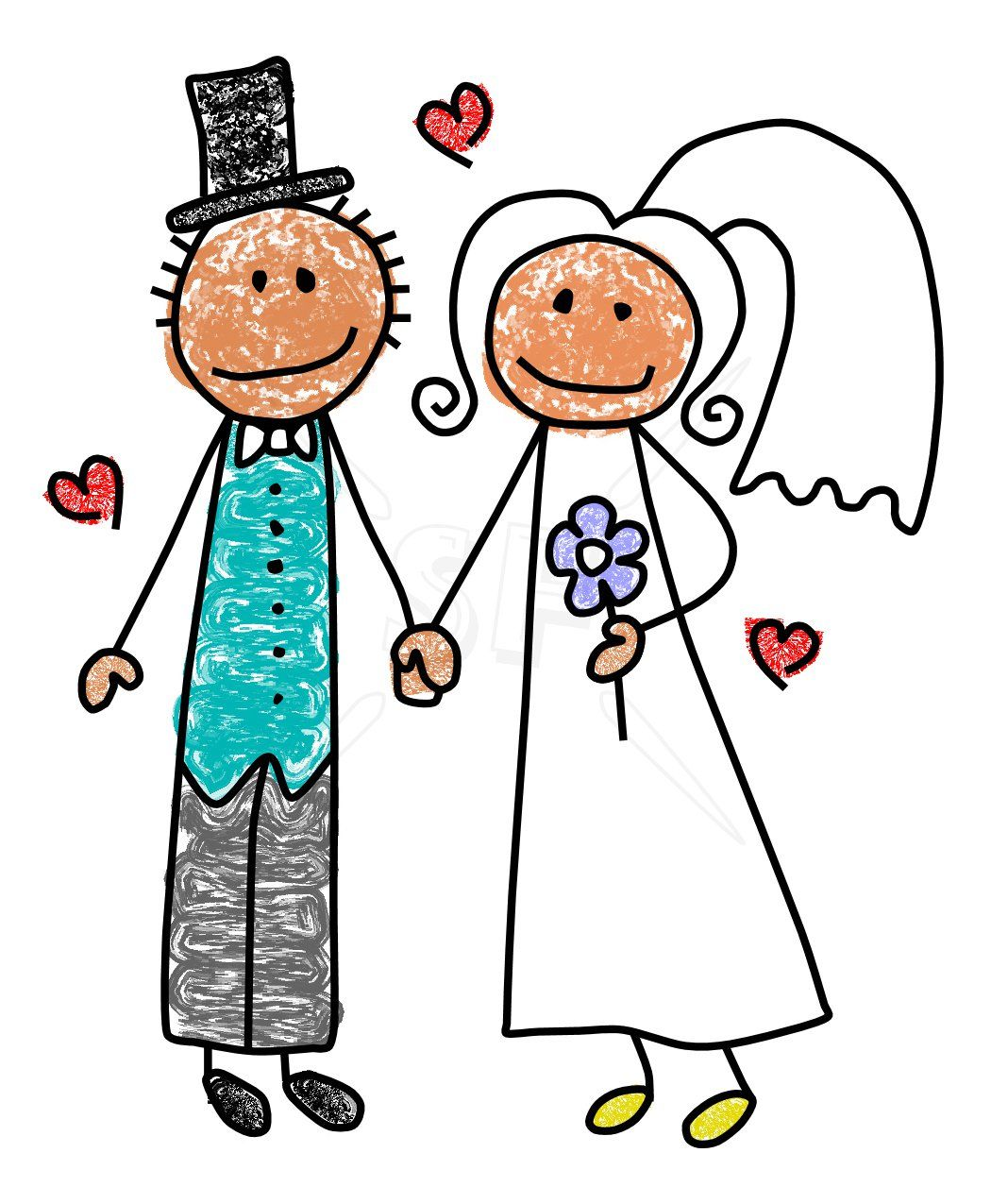 1050x1275 Drawing Bride Cute Stick Drawing