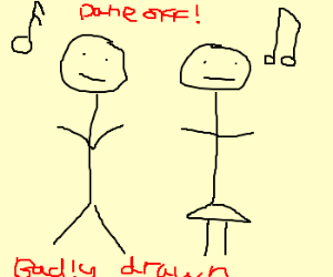 300x250 Badly Drawn Stick Figures' Dance Off