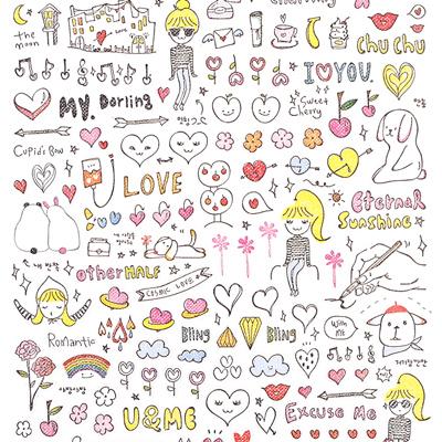 400x400 Buy Kawaii Sonia J Drawing Love Seal Stickers