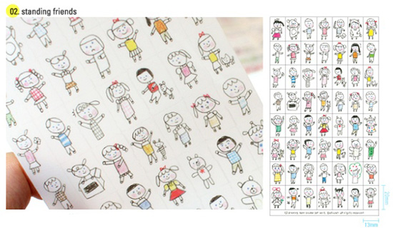 550x320 Drawing Deco Stickers Ver.2