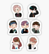 210x230 Bts Drawing Stickers Redbubble