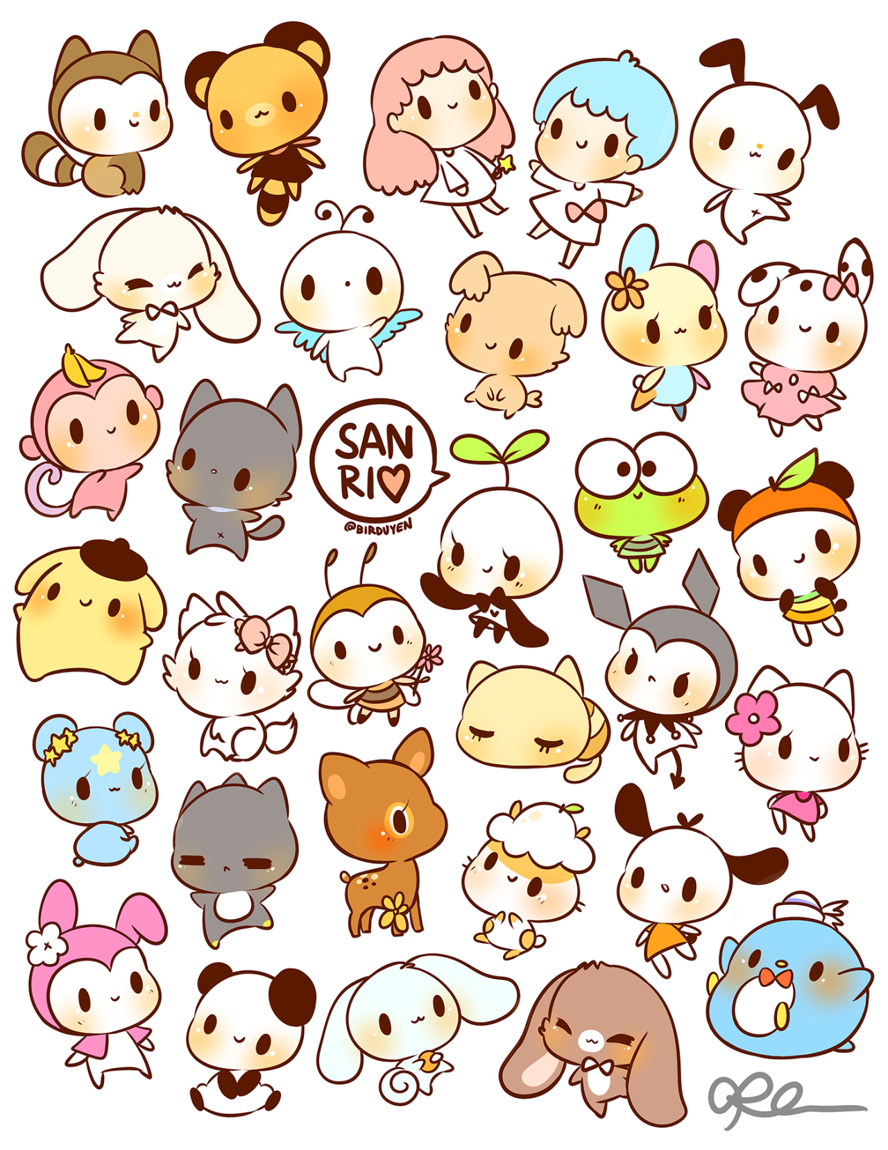 1280x1657 By Birduyen Sanrio Stickers!! Available In My Shop ) Joses Art