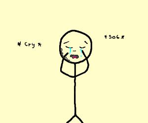 300x250 Crying Stick Figure