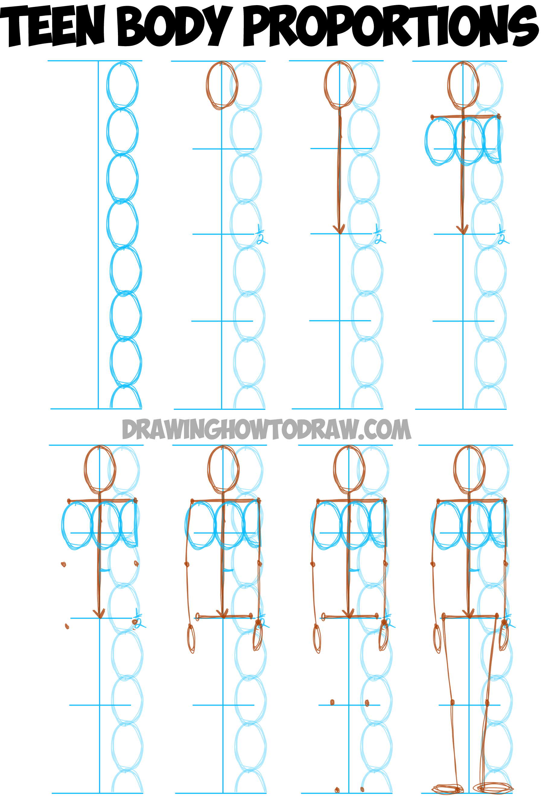 1800x2656 Learn How To Draw Human Figures In Correct Proportions By