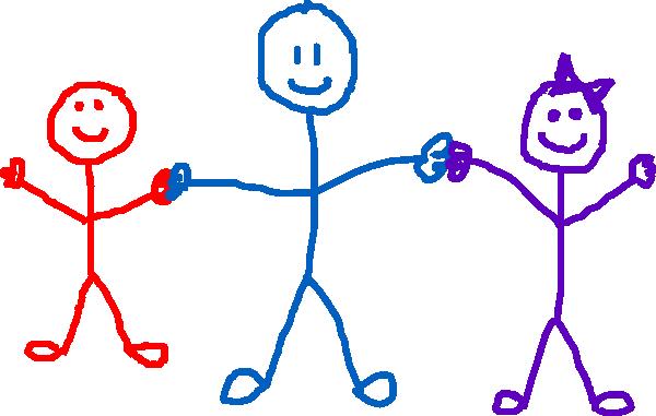 600x381 Stick Figure Kids Clip Art
