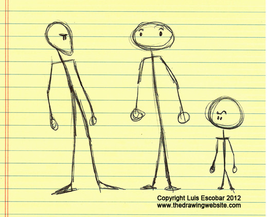 519x423 Stick Figures, With Style! Basic Designthe Drawing Website