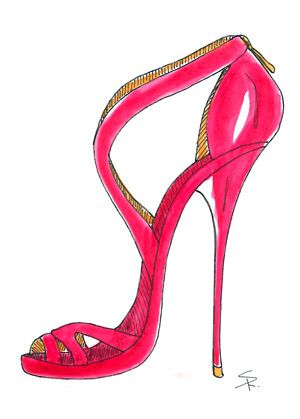 300x419 Stiletto Illustration Fashion Illustration