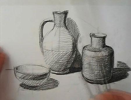 450x346 Drawing Still Life