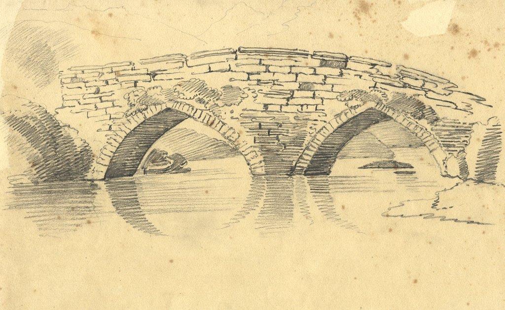 1024x630 Old Stone Bridge Sketch