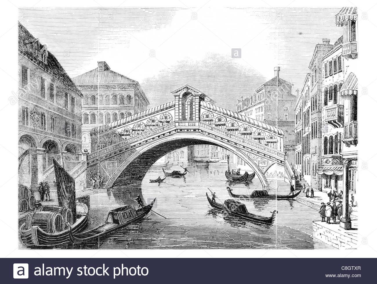 1300x981 Rialto Bridge Ponte Di Rialto Grand Canal Venice Italy Stone Arch
