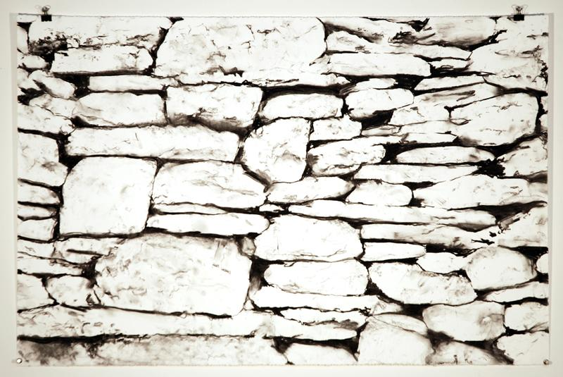 800x535 Stonewall Brush And Ink Drawing Stone Walls, Dry