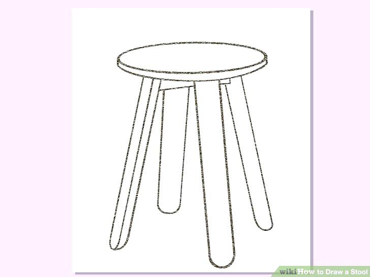 728x546 Drawing Stool Image Titled Draw A Stool Step 4 Stool Drawing
