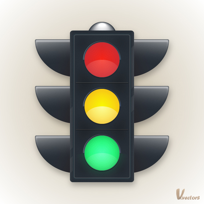 690x690 Illustrator Drawing Create A Traffic Light Illustration Tutorial