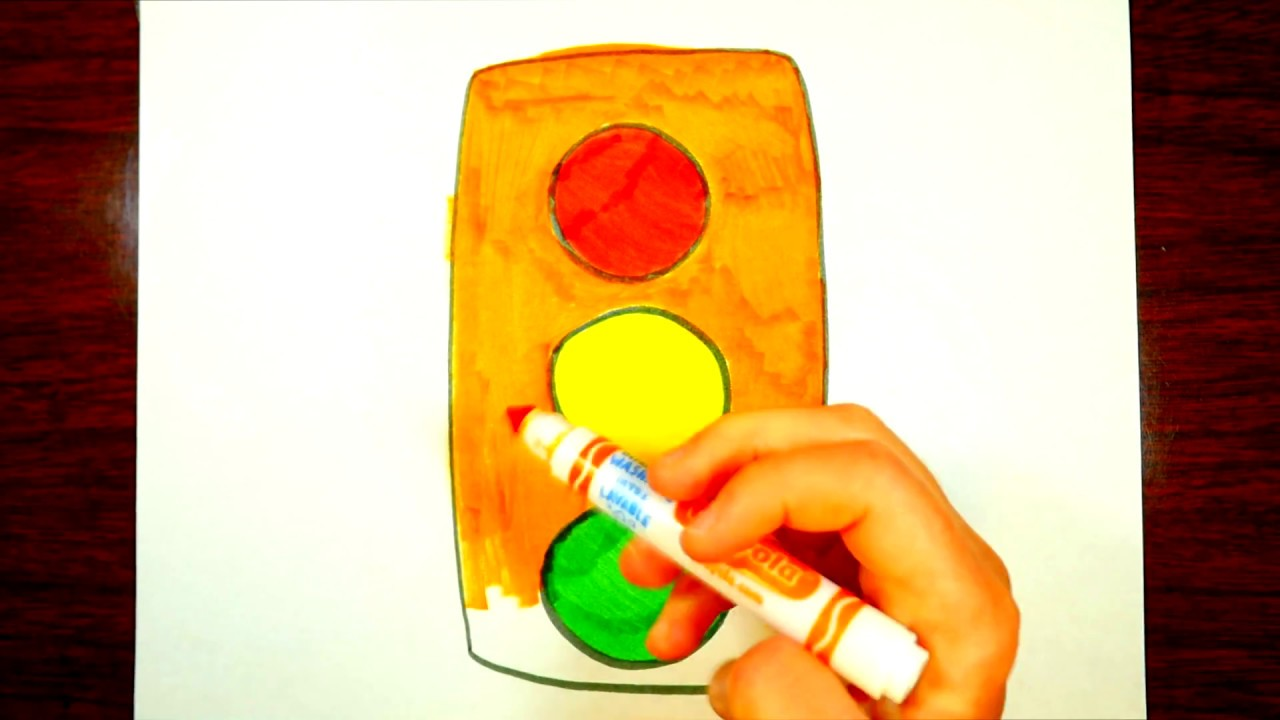 1280x720 Learning How To Draw A Stoplight Kids Drawing Video