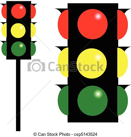 450x470 Stoplight Vector Illustration Eps Vector