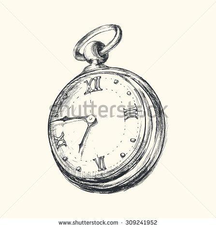 447x470 Hand Drawn Vintage Watch Sketch Vector Illustration Shutterstock