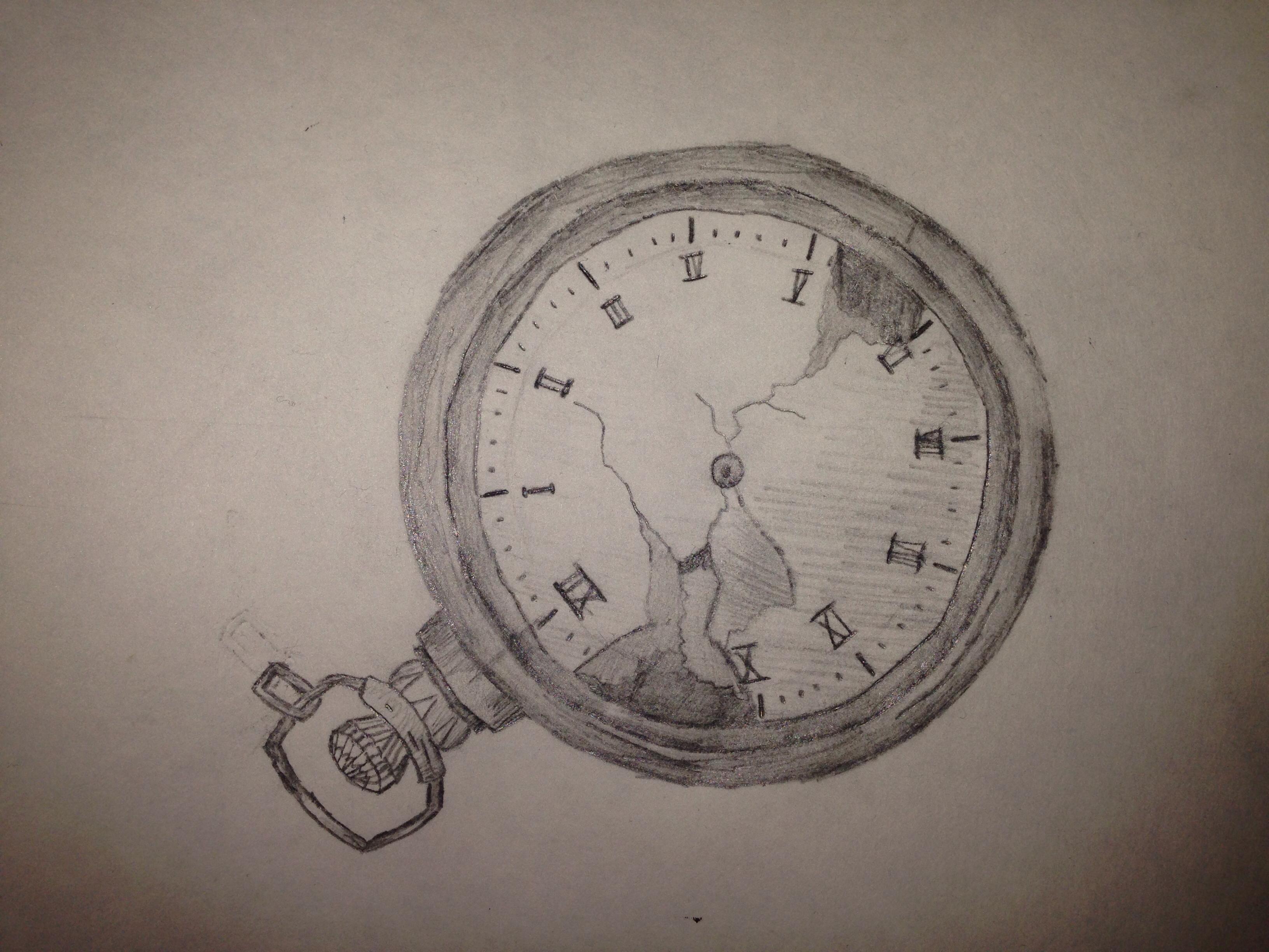 3264x2448 Pencil Drawing Stopwatch Tattoo Drawings