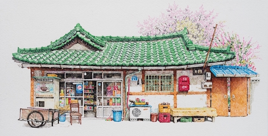 900x457 Convenience Store Drawings Of South Korea Offer Unique Look