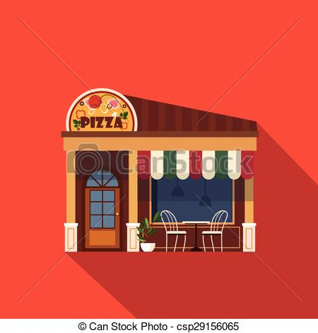 450x470 Restaurants And Shops Facade, Storefront Vector Detailed Clip