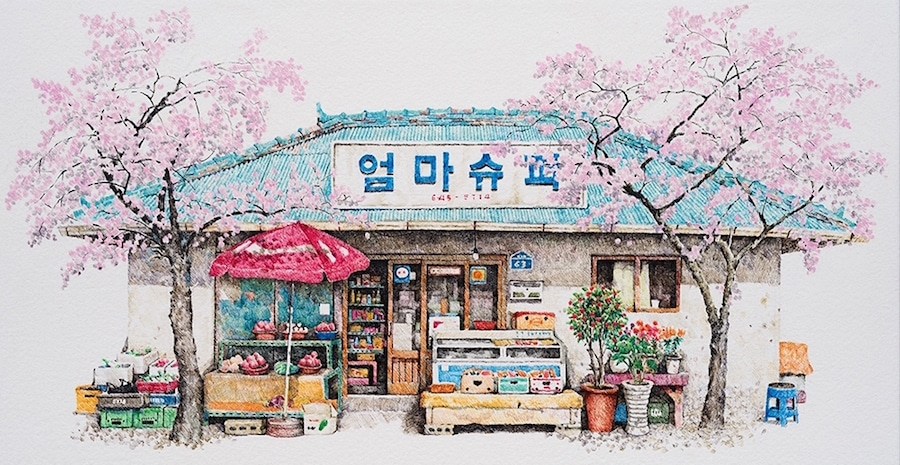 900x465 Convenience Store Drawings Of South Korea Offer Unique Look