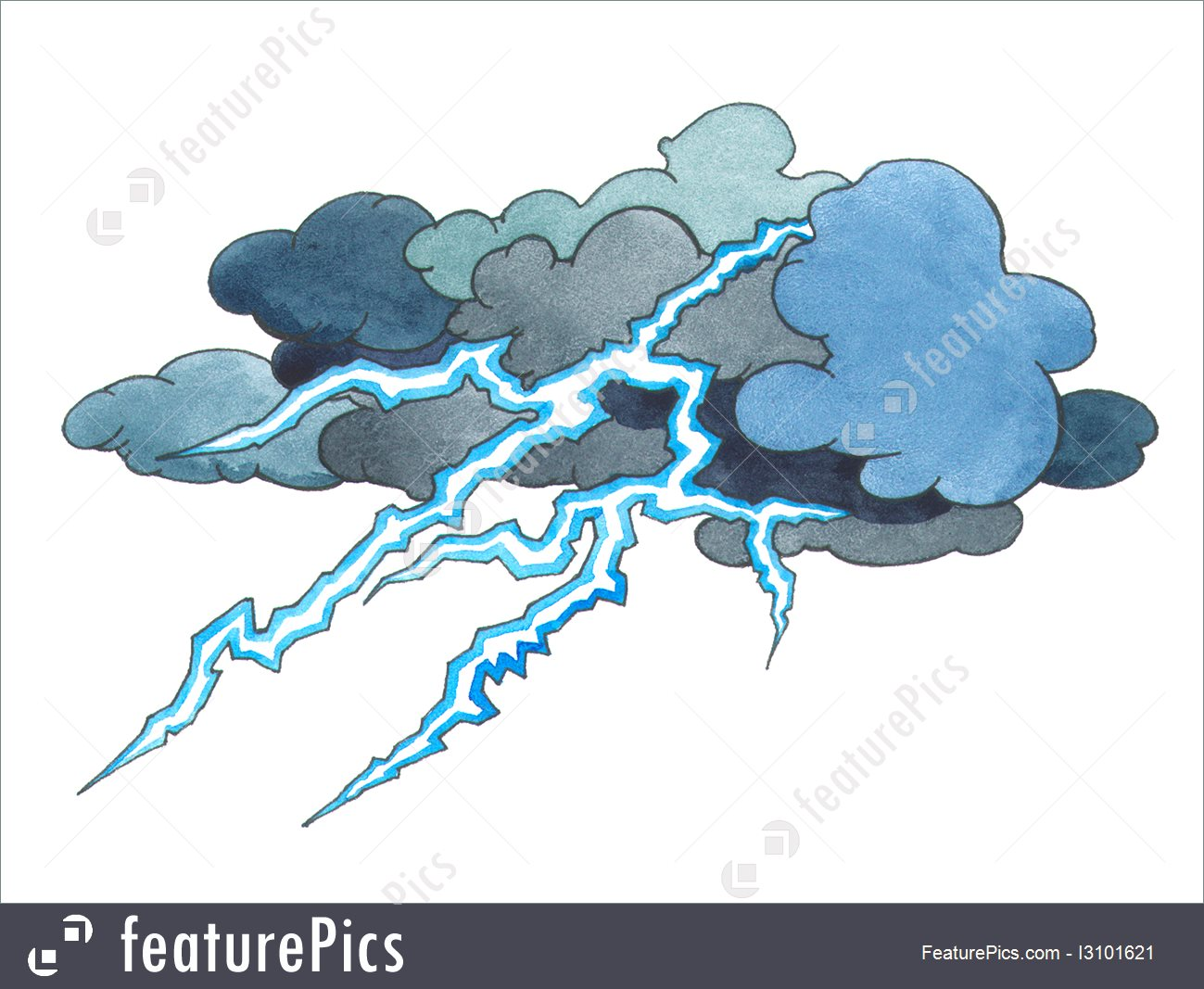 1299x1067 Illustration Of Thunder Storm