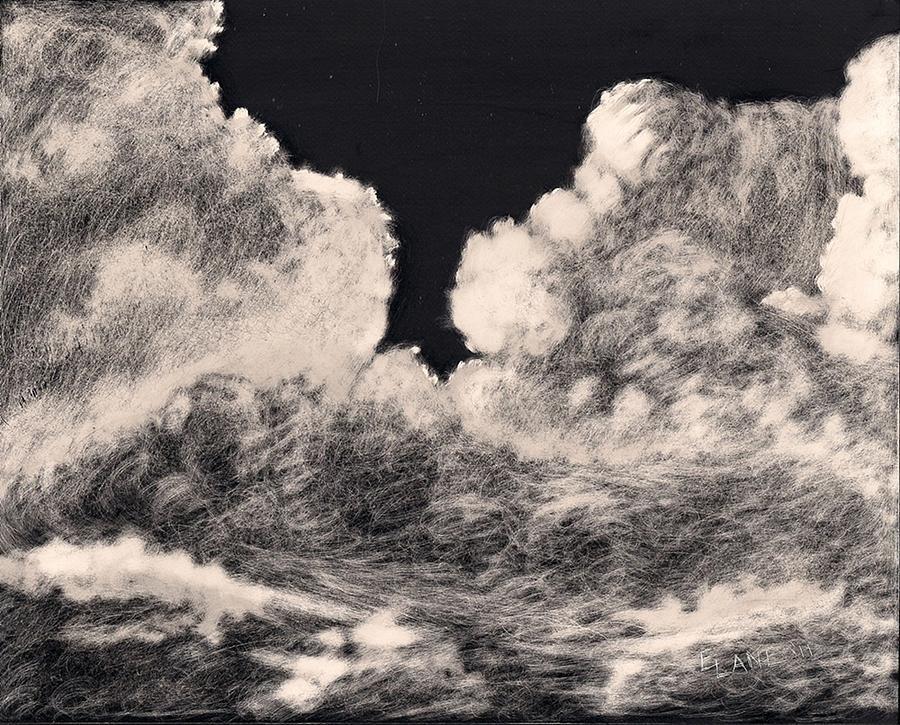 900x725 Storm Clouds 1 Painting By Elizabeth Lane