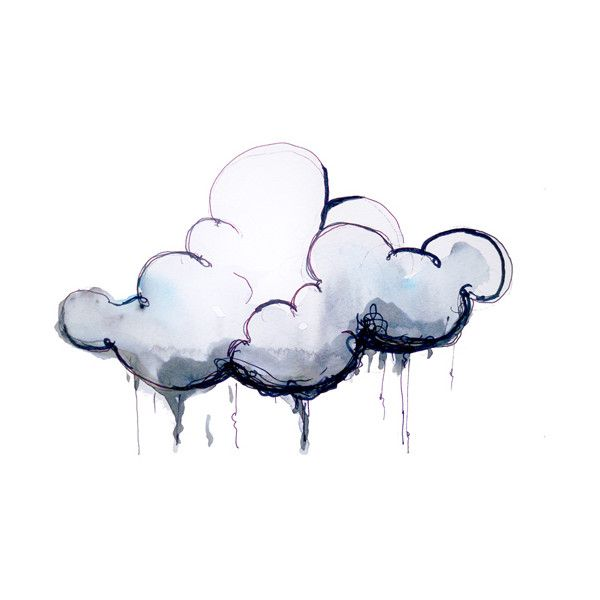 600x600 Storm Clouds Drawing