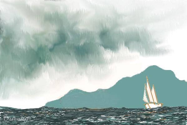 600x400 Storm Clouds A Landscape Speedpaint Drawing By Chr