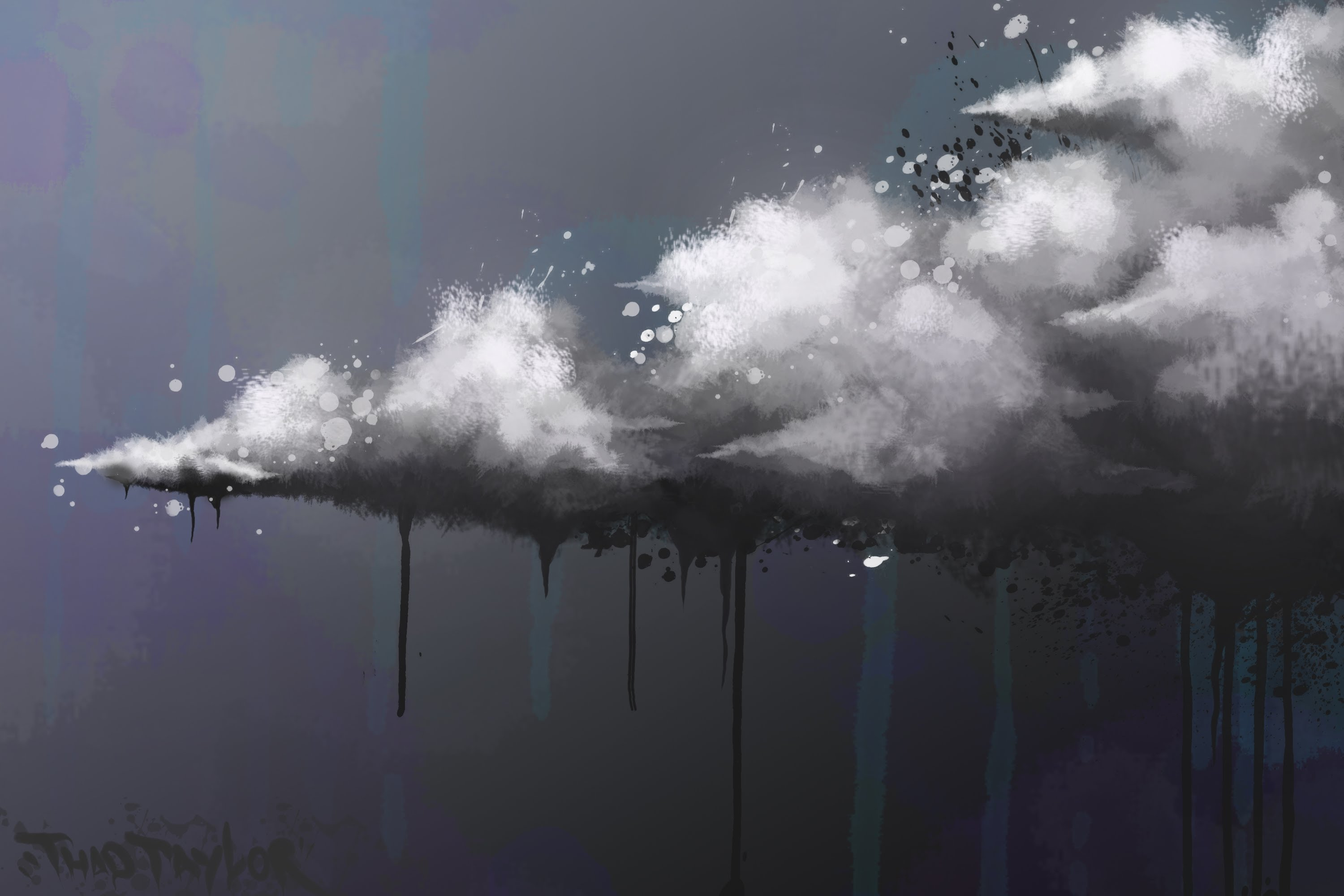 3000x2000 Surreal Cloud Photoshop Cs5 Painting By Thadtaylorart