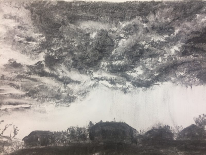 800x600 Drawing Storm Clouds In Charcoal Tracey Miller Artist