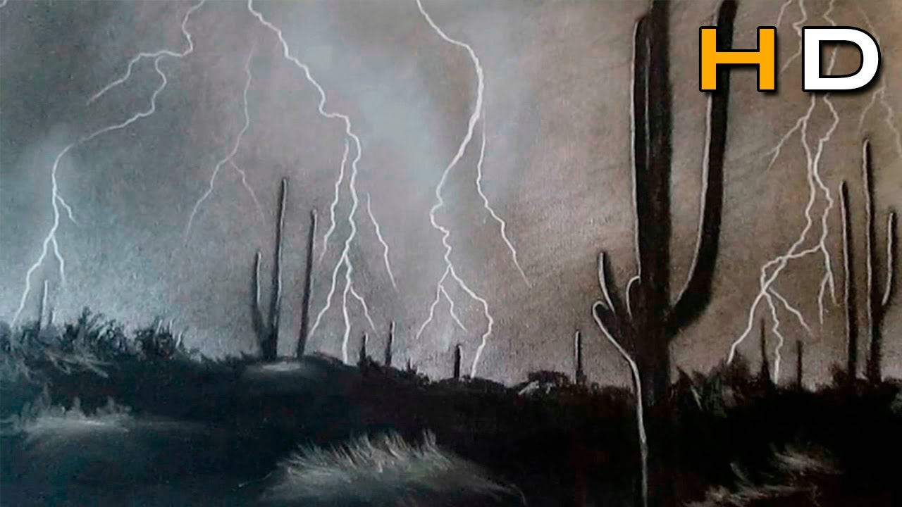 1280x720 How To Draw A Realistic Thunderstorm Step By Step