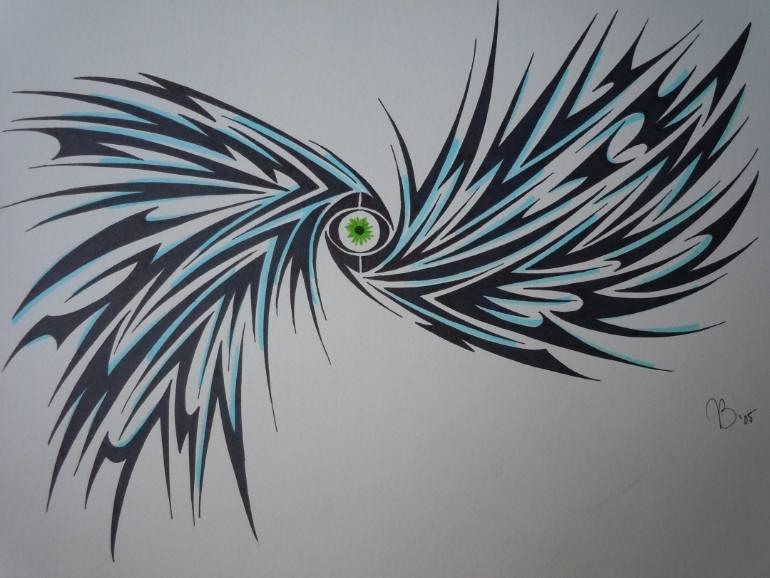 770x578 Saatchi Art Eye Of The Storm Drawing By Joshua Burks
