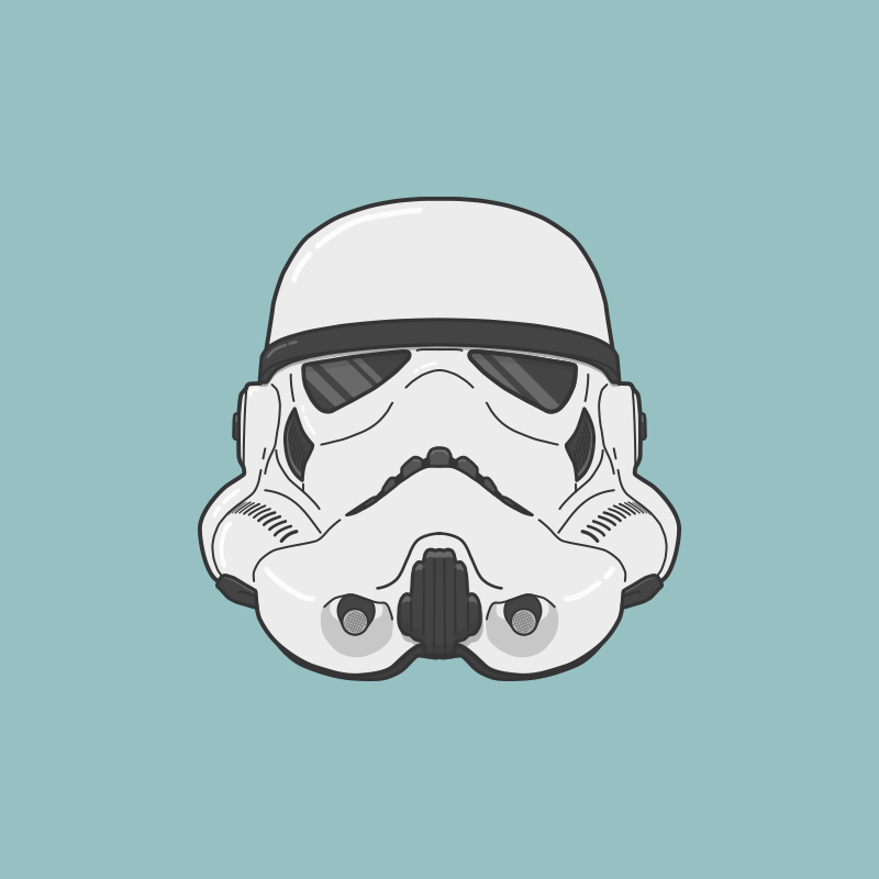800x800 I Made A Stormtrooper Helmet In Adobe Illustrator! What Do You