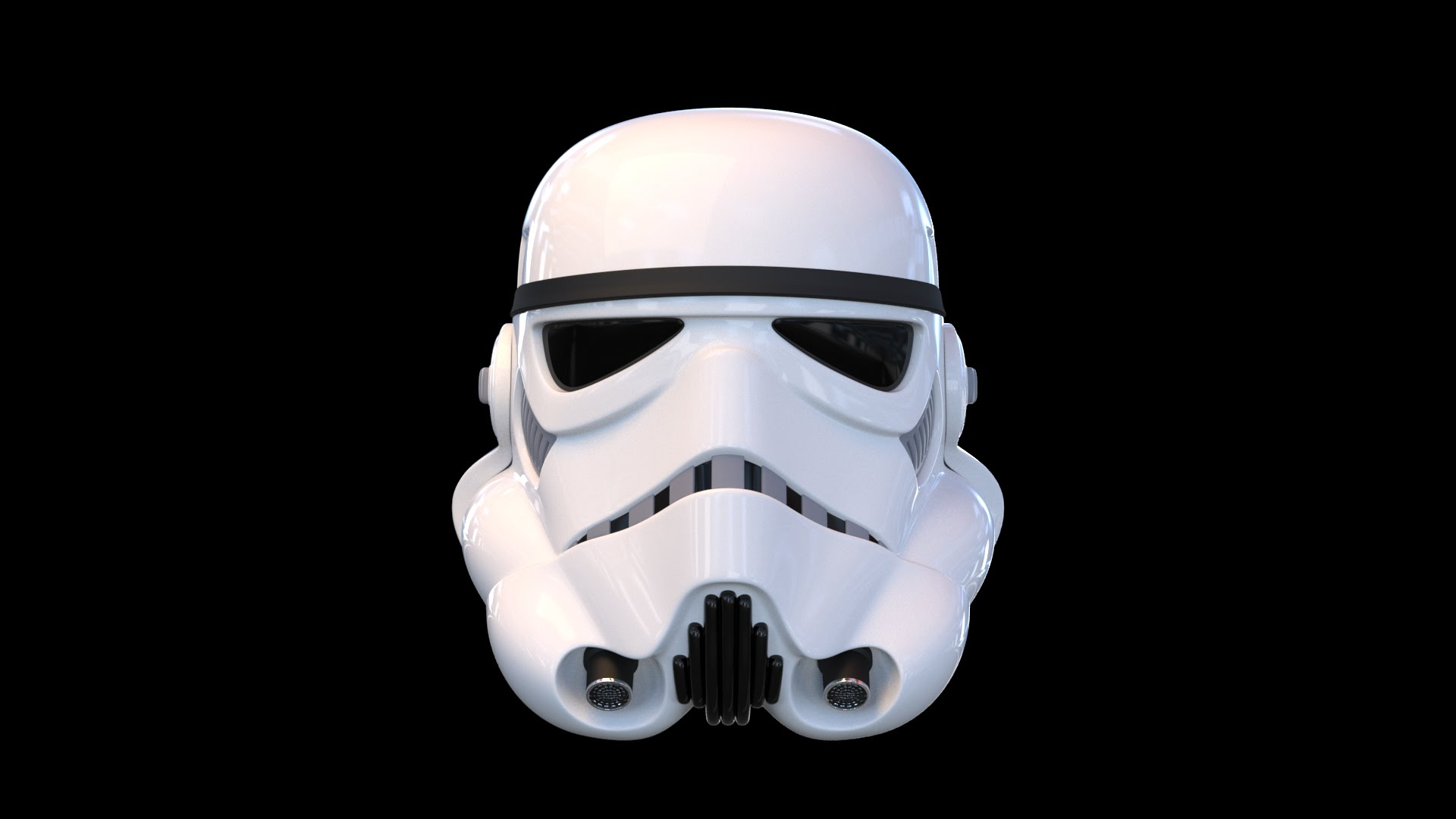 1920x1080 Star Wars Stormtrooper Helmet (Original) 3d Time Lapse And Render