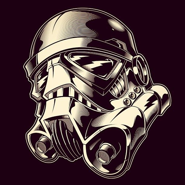 612x612 Stormtrooper Helmet Tattoo Helmet Tattoo