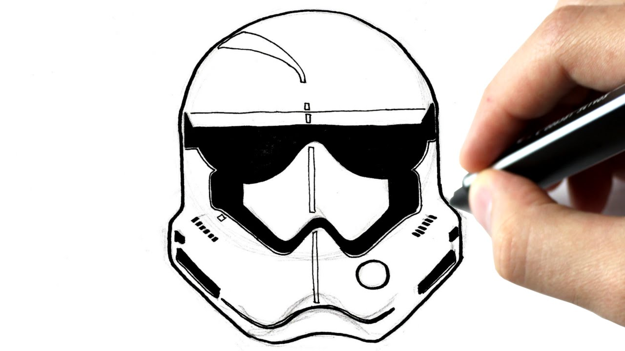 Stormtrooper Mask Drawing At Getdrawingscom Free For