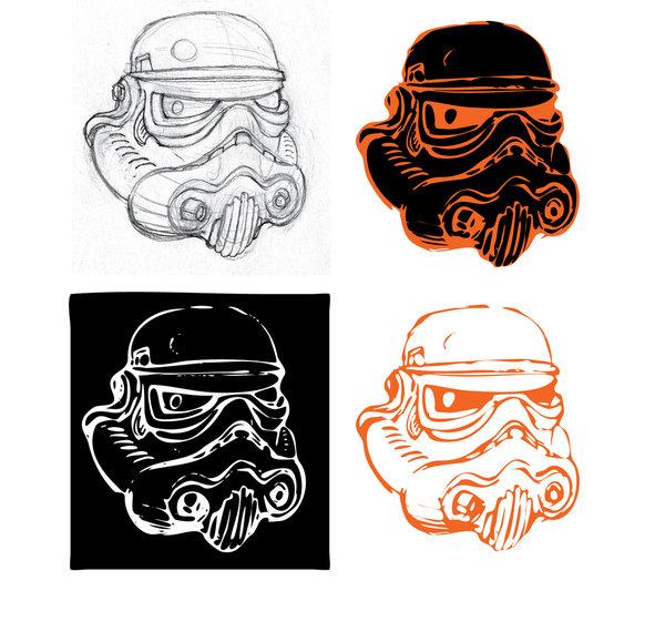 600x570 Themes Stormtrooper Helmet Drawing Tutorial Plus Stormtrooper