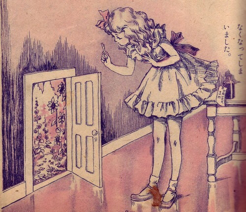 500x431 Love The Old Storybook Illustrations .adorable! Pink