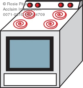 281x300 Drawing Of A Stove The Type One Would Find In Typical Home