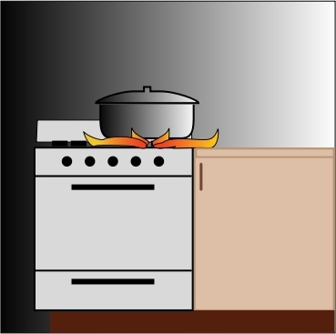 369x367 Pot On Stove Free Vector In Open Office Drawing Svg ( Svg