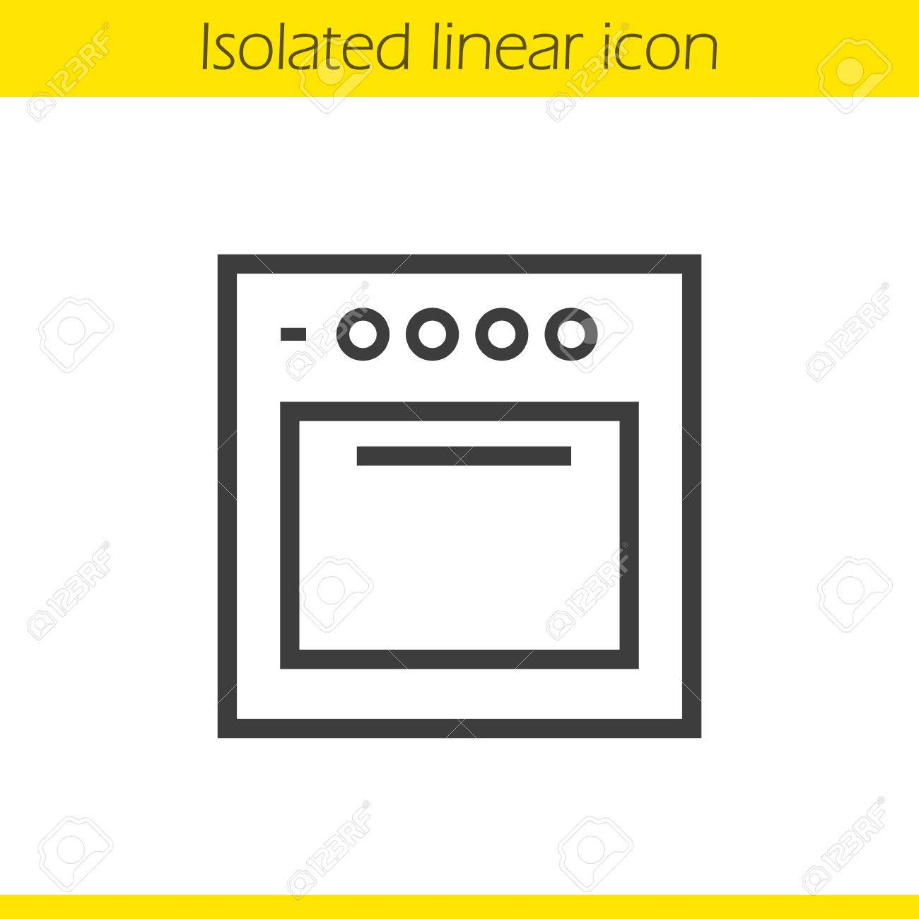 1300x1300 Stove Linear Icon. Gas Cooker Thin Line Illustration. Oven Contour
