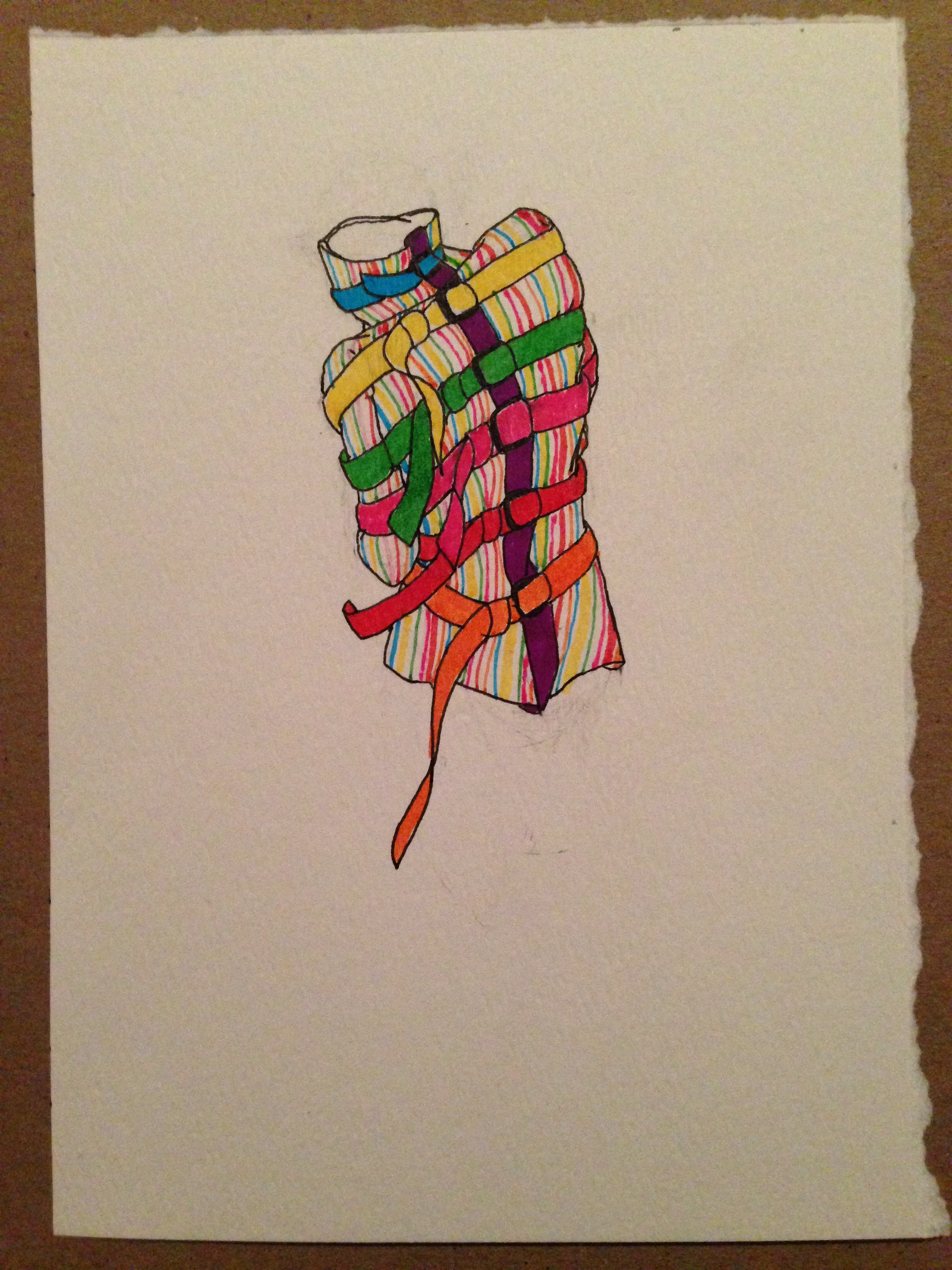2448x3264 Rainbow Straight Jacket Drawing Matthew De Leon