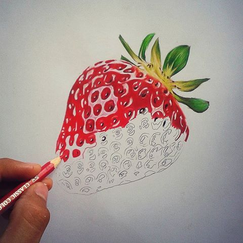 480x480 Billedresultat For Strawberry Pencil Drawing Drawings