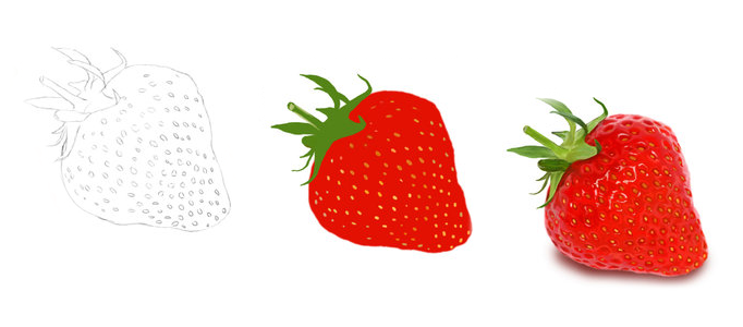 682x300 Drawing A Realistic Strawberry Using Photoshop