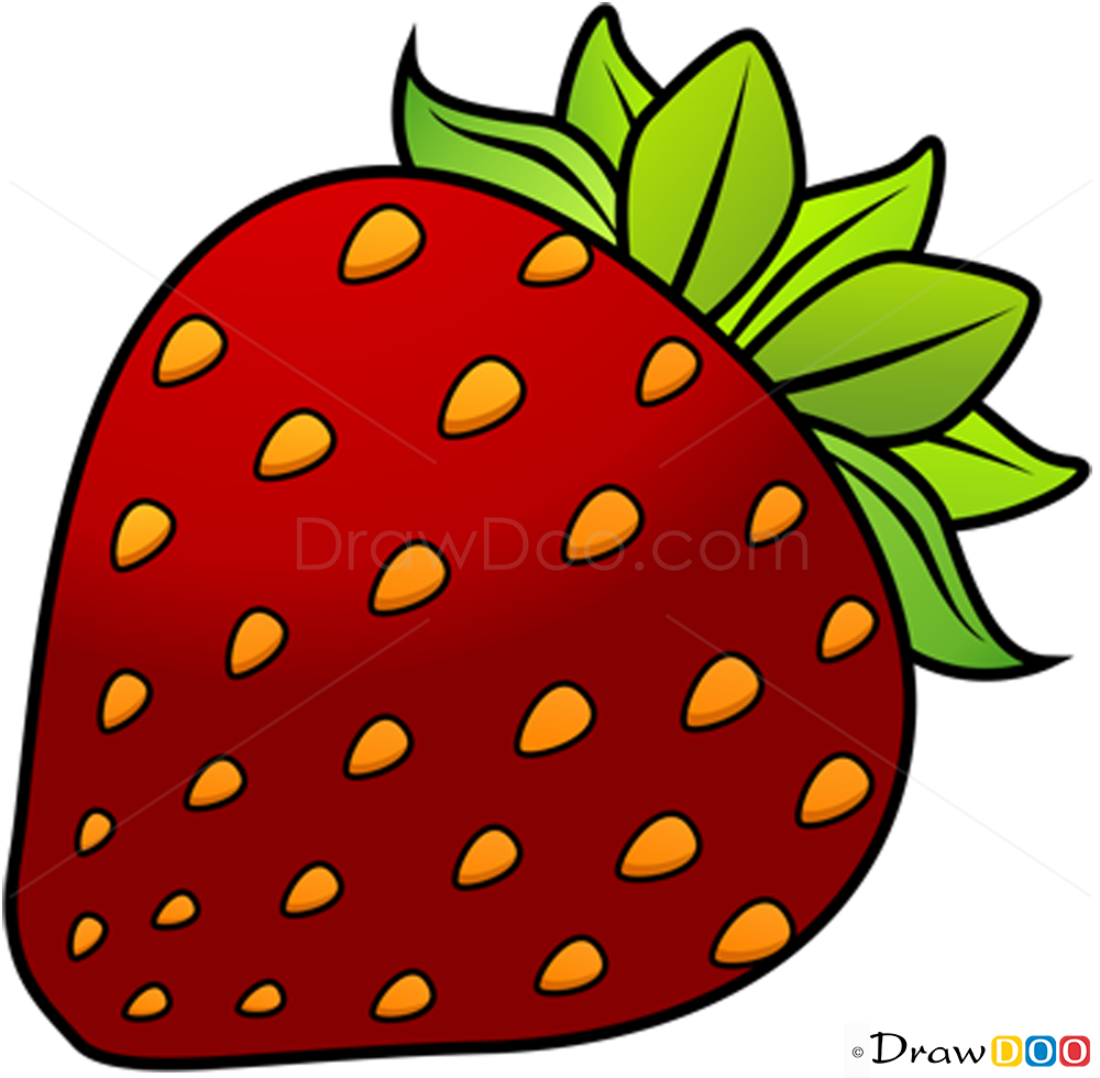 1000x980 How To Draw Strawberry, Fruits